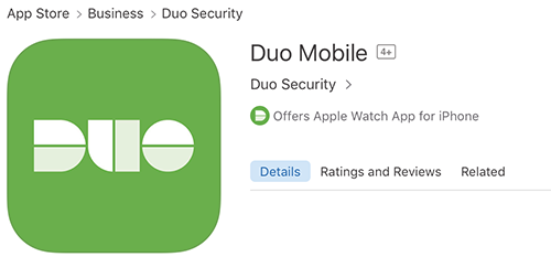 Duo icon as it appears on the App Store